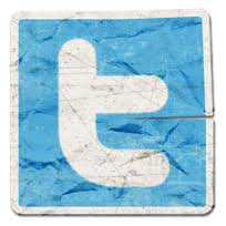 Twitter Logo Crumpled Paper