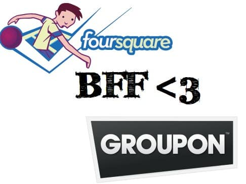 Featured image for Foursquare and Groupon Get Cozy