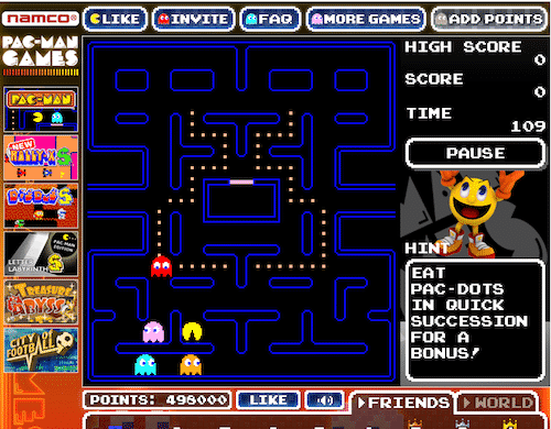 Facebook Pac Man S Namco Bandai Games Launches Pac Man And Pac Man S For Facebook