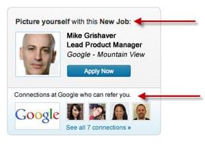 LinkedIn Job Ad Based On User Data