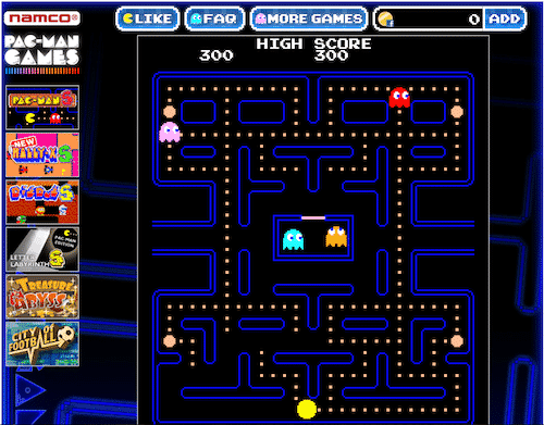 Pac Man Original Version for Facebook Namco Bandai Games Launches Pac Man And Pac Man S For Facebook