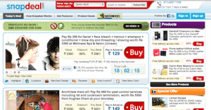 SnapDeal Deals Page