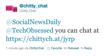 SocialNewsDaily Chitty Chat Link