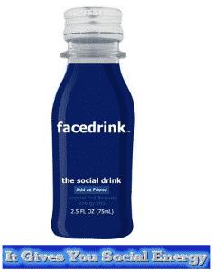 facedrink gives you social energy