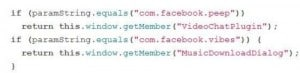 Facebook Vibes Code Snippet