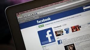 Facebook on Laptop Screen