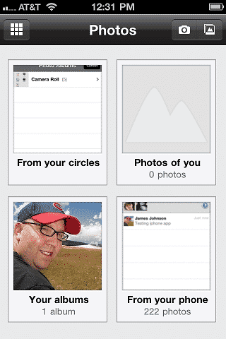 Google Plus Photos Display