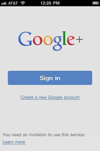 Google Plus Sign In Button