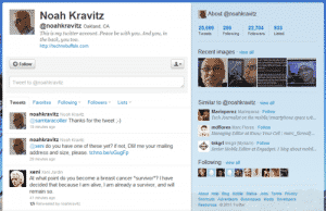 Noah Kravitz - Twitter Account