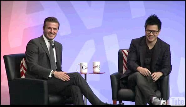 David Beckham Google Hangouts Interview