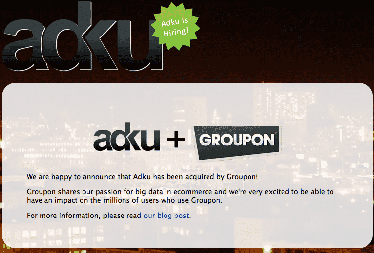 Featured image for Groupon Acquires E-Commerce Data Collector 'Adku'