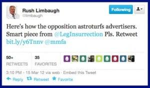 Rush Limbaugh On Twitter