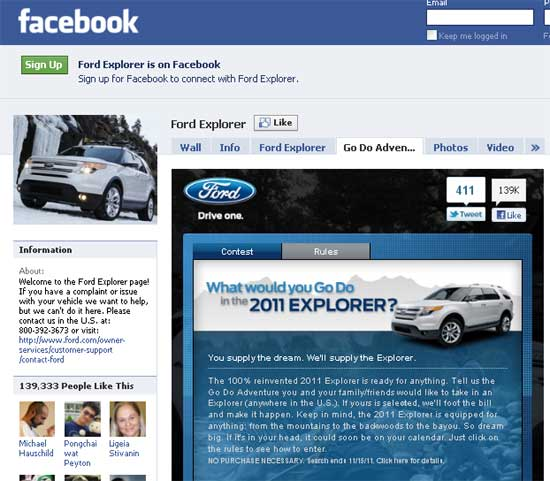 Ford On Facebook
