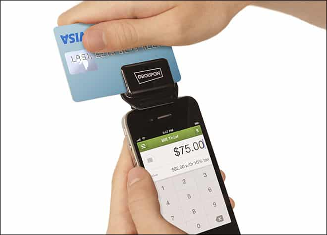 Featured image for Groupon Debuts Credit Card Swiper For Merchants App