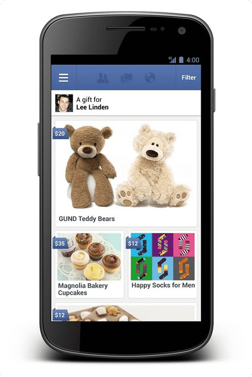 Featured image for Facebook Adds Gift Purchasing To Mobile Apps