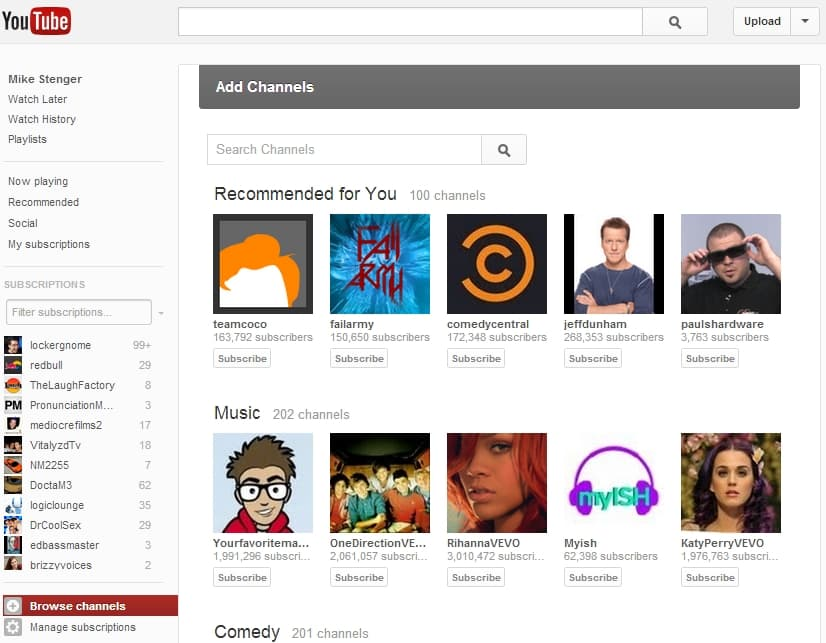youtube new design 2 YouTube Testing Out New Design [Inside Look]