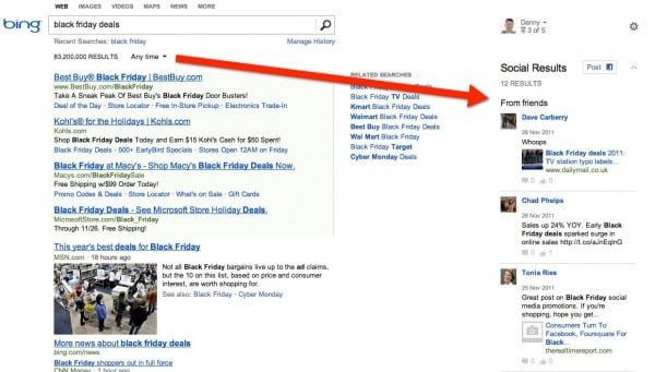 bing new social sidebar Bing Enhances Social Sidebar, Facebook Integration With New Design