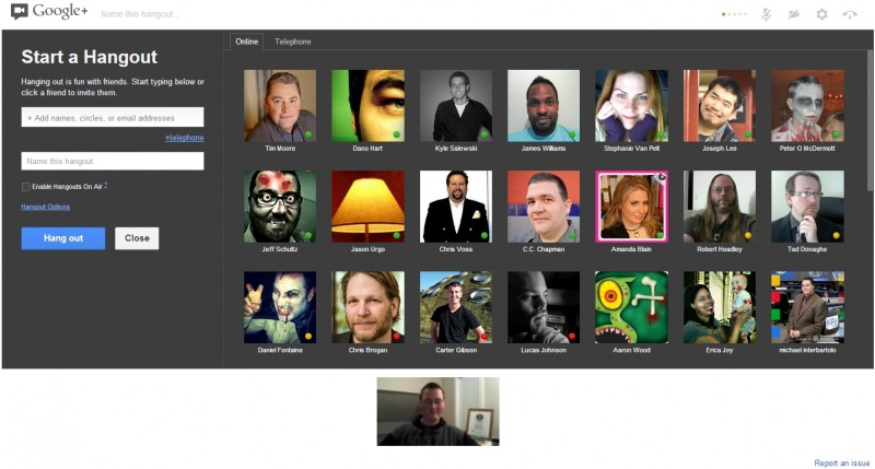 Google Plus Hangouts New Design