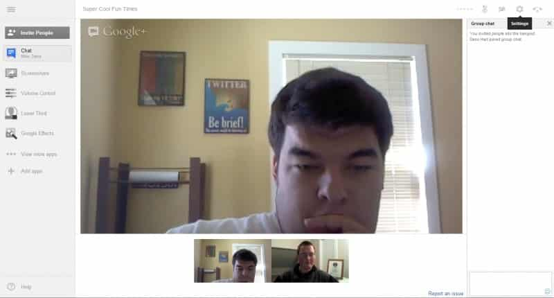 Google Plus Hangouts New Look