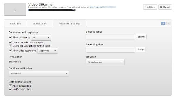 youtube new upload features YouTube Adds New Features When Uploading A Video