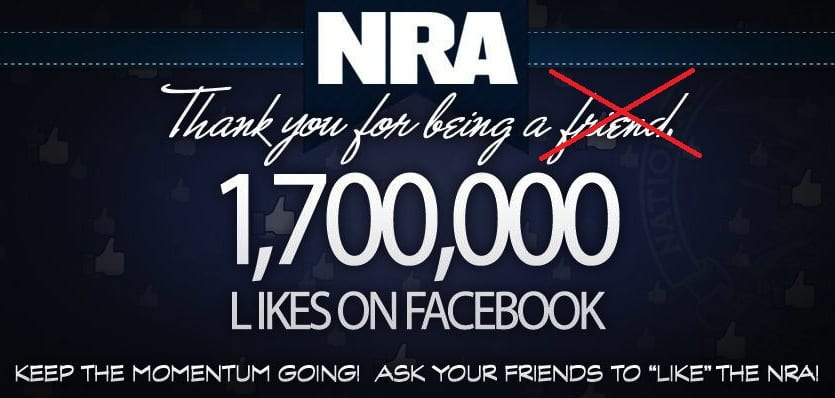 Featured image for National Rifle Association Hides Facebook Page To Avoid Gun Control Discussion