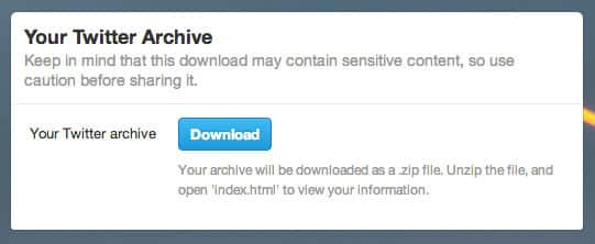 Featured image for Twitter Archive Downloading Tool Starts Rolling Out To Select Users