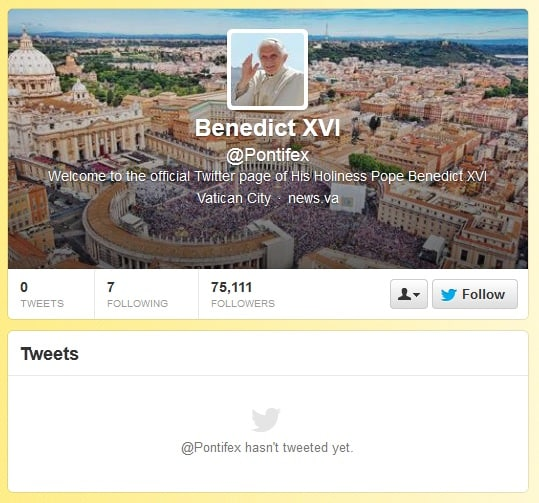 Featured image for The Pope Is Officially On Twitter