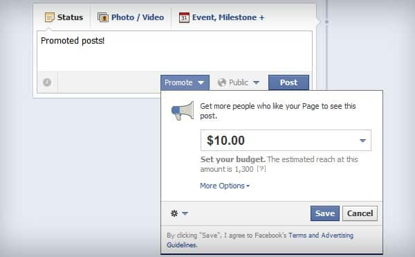 Featured image for Facebook: 2.5 Million Promoted Posts, 2% From Local Business Pages