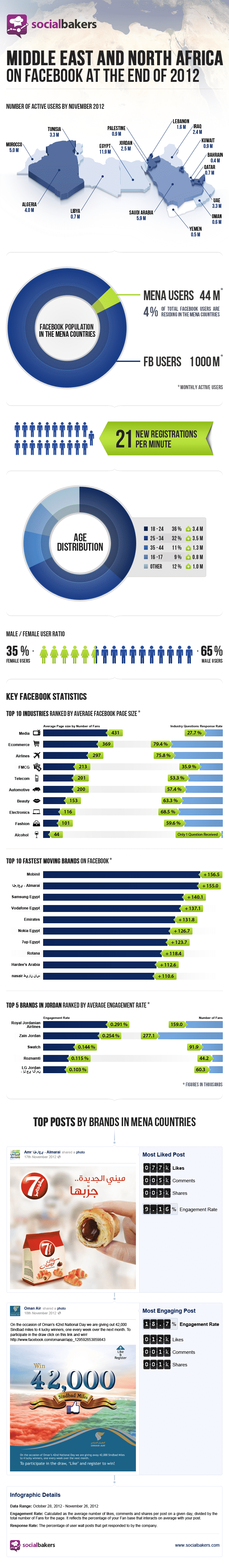 facebook usage middle east africa Facebook Usage Up 29 Percent In Middle East, North Africa [Infographic]