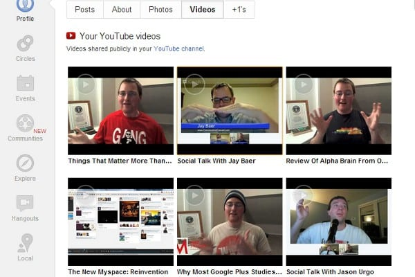 google plus youtube integration Google+ Rolling Out Deeper YouTube Integration
