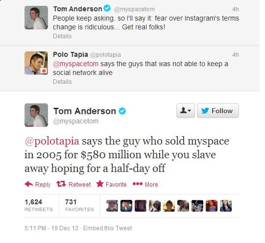 tom myspace burn