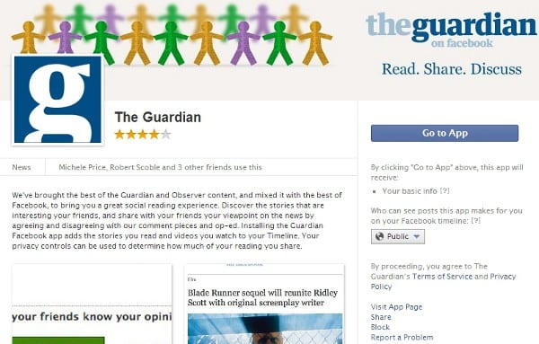 Featured image for The Guardian Axes Facebook Social Sharing App In Lieu Of More Control