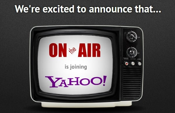 Featured image for Yahoo Acquires Live Video Chat Service OnTheAir