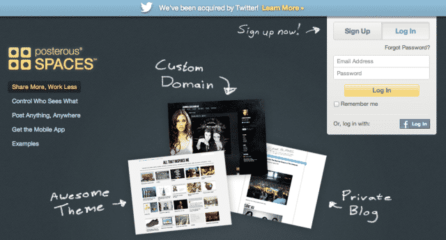 Posterous Spaces by Twitter