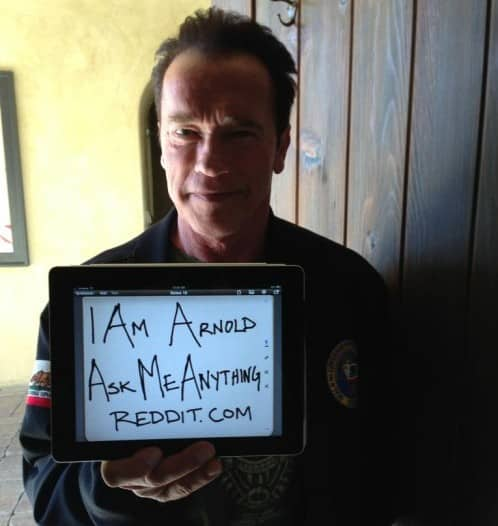 Featured image for Arnold Schwarzenegger's Best Reddit IAmA One-Liners