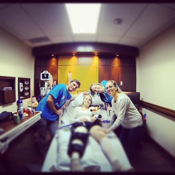 Lindsey Vonn after surgery