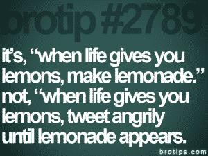 twitter brotip lemonade