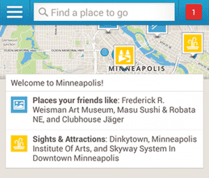 Foursquare Update Shows New Businesses