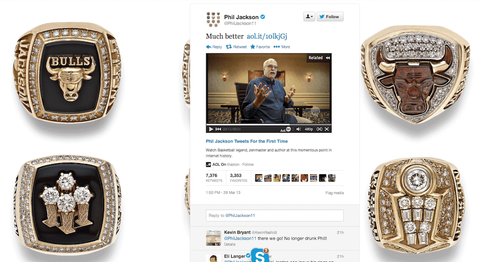 Featured image for Phil Jackson Was In On Hoax, Releases Twitter Commercial