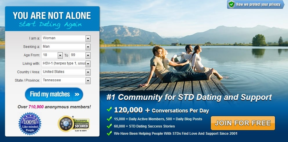 Dating website for std