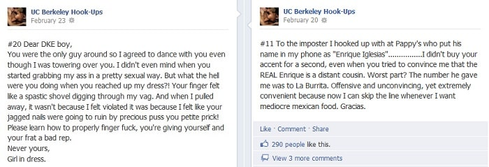 UCBerk3 Facebook Page UC Berkeley Hook Ups Helps Co Eds Reconnect With Their Drunken Cinderellas [NSFW]