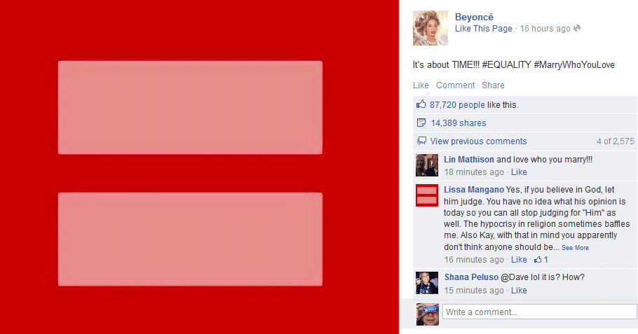 Beyonce On Gay Marriage Let Them Put A Ring On It