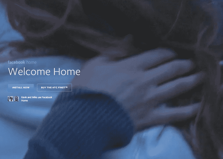 Featured image for Facebook Home Downloaded 500,000 Times In First 5 Days