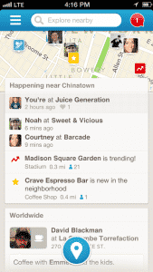 Foursquare Updates iPhone App