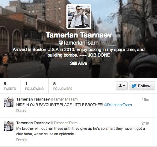 Tamerlan Twitter handle