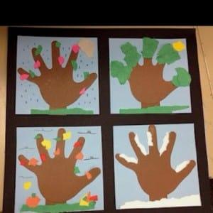 Seasonal Handprint Trees