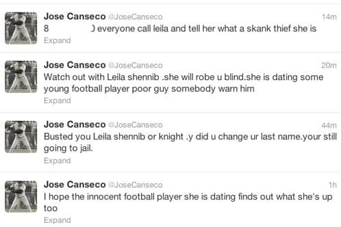 Jose Canseco Twitter