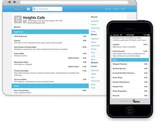 Foursquare Local Search Menus
