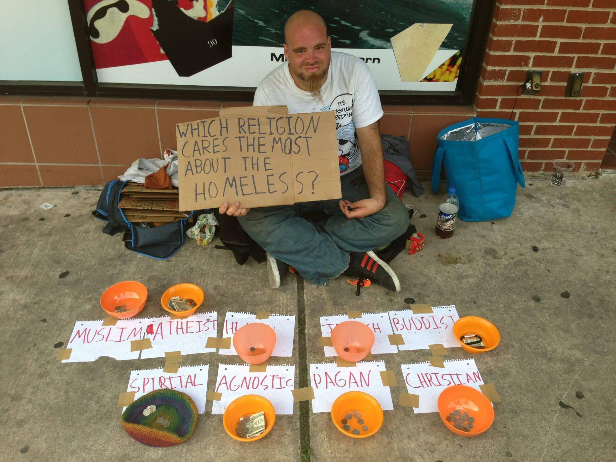 homeless atheism