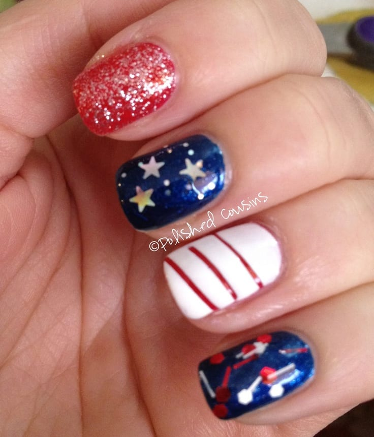 Flag Day Nails